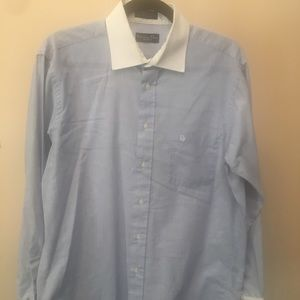 Dior Shirts - Dior Blue/White Custom Dress Shirt (15.5)